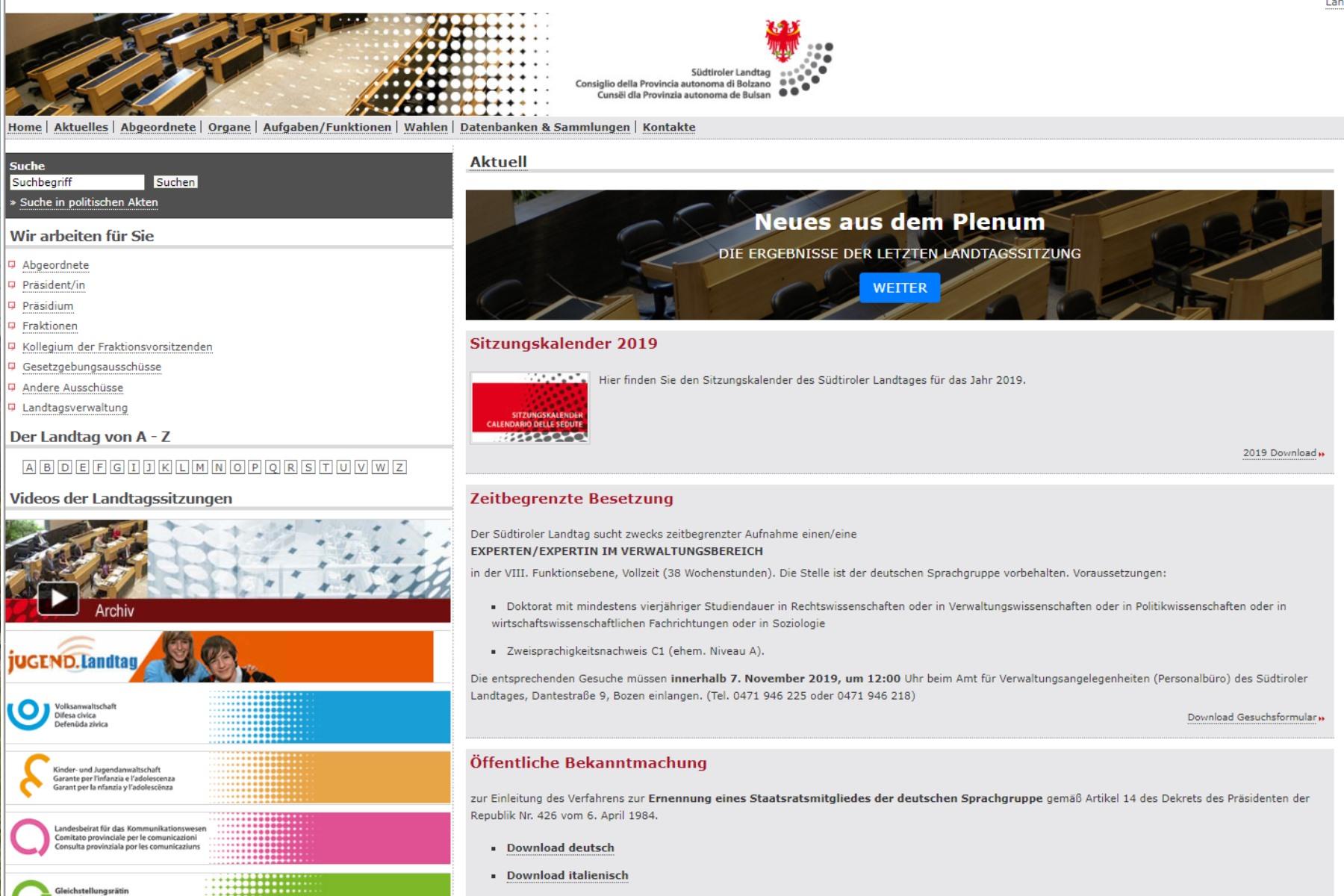 Beschlussantrag | Internetauftritt des Landtages bürgernäher und transparenter gestalten