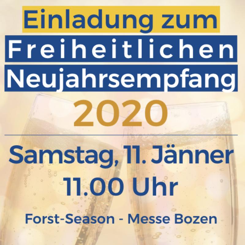 Freiheitlicher Neujahrsemfpang am 11. Jänner in Bozen